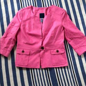 Never Worn JCrew Pink Linen Crop Jacket
